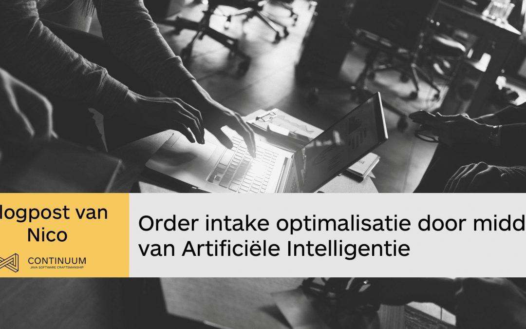 Order intake optimalisatie door middel van AI