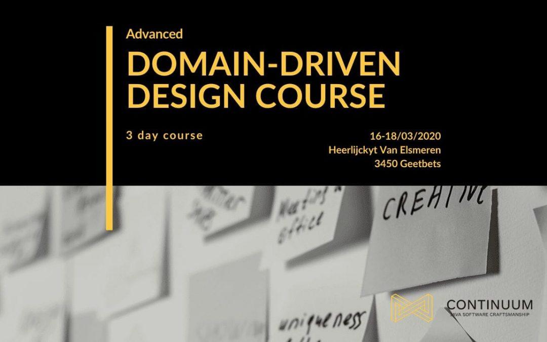 Advanced Domain-Driven Design – 3 Day Course