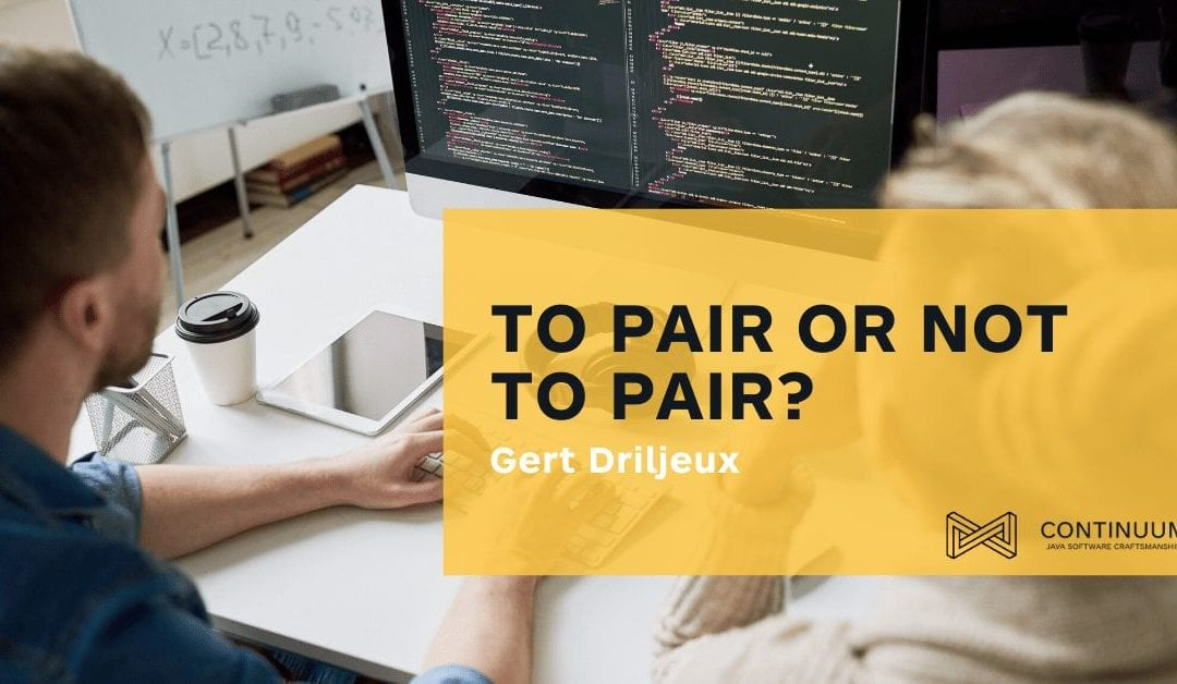 To pair or not to pair…