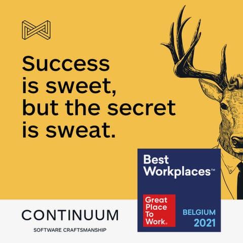 Continuum bij 10 beste werkgevers in België