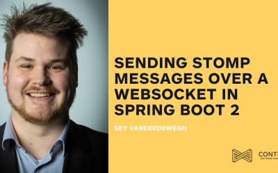 Sending STOMP messages over a WebSocket in Spring Boot 2